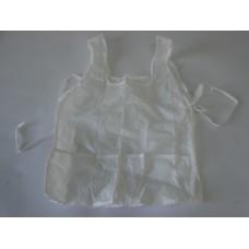 Avental Escolar Plástico C/Bolso Liso Branco
