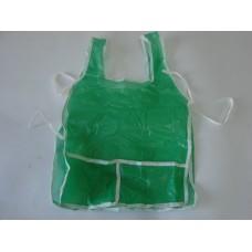 Avental Escolar Plástico C/Bolso Liso Verde