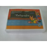 Caderno Brochura Horizontal Caligrafia 1/4 080 fls