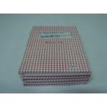 Caderno Kajoma C. Dura 1/4 Costurado Vertical Xadrez Vermelho 096 fls