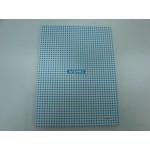 Caderno Kajoma C. Dura Univ. Costurado Xadrez Azul 096 fls