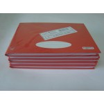 Caderno C. Dura 1/4 Costurado Horizontal 096 fls Vermelho