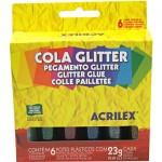 Brilhocola Acrilex Caixa C/6 Cores 0023 gr